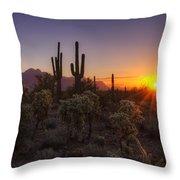 Good Morning Arizona  Throw Pillow