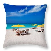 Grace Bay Beach Throw Pillow