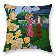 Grace Under The Parasol Throw Pillow