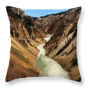 Grand Canyon Of Yellowstone Throw Pillow