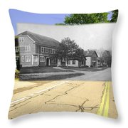 Grange Hall On The Commons In Little Compton Ri Throw Pillow
