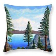 Granite Boulders Lake Tahoe Throw Pillow