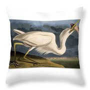 Great White Heron Throw Pillow by Celestial Images
