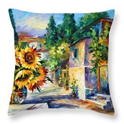 Greek Noon Throw Pillow