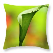 Green Calla Lily Throw Pillow