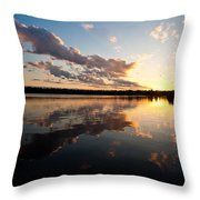 Greenlake Sunset Throw Pillow