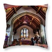 Greensted Church Ongar Throw Pillow