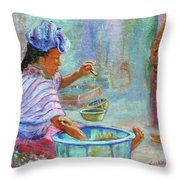 Guatemala Impression Iv Throw Pillow