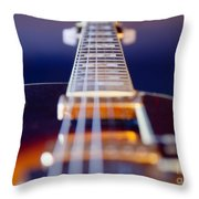 Guitar Throw Pillow by Stelios Kleanthous
