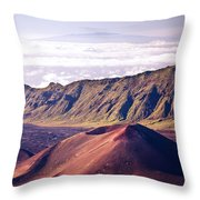Haleakala Sunrise On The Summit Maui Hawaii - Kalahaku Overlook Throw Pillow