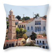 Halki Island Greece Throw Pillow