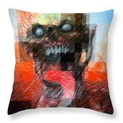 Halloween Mask Throw Pillow