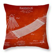 Hammock Patent Drawing From 1895 Throw Pillow
