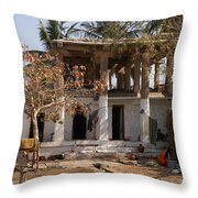 Hampi Bazaar Throw Pillow