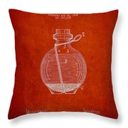 Hand Grenade Patent Drawing From 1884 Throw Pillow