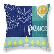 Hanukkah Peace Throw Pillow