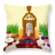 Happy Nowruz Throw Pillow