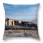 Harmony Borax Works Death Valley National Park Throw Pillow