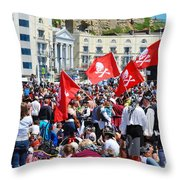 Hastings Pirate Day Throw Pillow