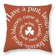 Have A Pint Throw Pillow