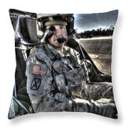 Hdr Image Of A Pilot Equipped Throw Pillow