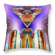 2 Headed Lizard  Throw Pillow by Belinda Lee