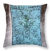 Headstone Abstract Throw Pillow