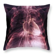 Heart Within The Chest Throw Pillow