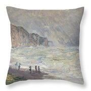 Heavy Sea At Pourville Throw Pillow