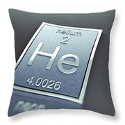 Helium Chemical Element Throw Pillow