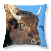 Herd Its Your Birthday Throw Pillow