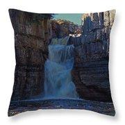 High Force Waterfall Throw Pillow