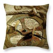 .historical Navigation Throw Pillow