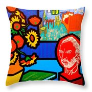 Homage To Vincent Van Gogh Throw Pillow