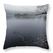 Hosmer Pond In Camden Maine Throw Pillow