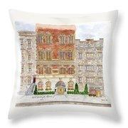 Hotel Washington Square Throw Pillow