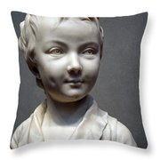Houdon's Alexandre Brongniart Throw Pillow