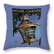 House And Garden Cover Throw Pillow