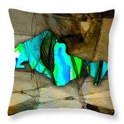 Houston Map Watercolor Throw Pillow