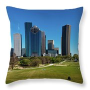 Houston, Texas - High Rise Buildings Throw Pillow