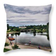 Hoyt Lake Delaware Park 0004 Throw Pillow