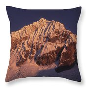 Mt Huandoy Sunrise Peru Throw Pillow