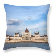 Hungarian Parliament Building In Budapest Throw Pillow