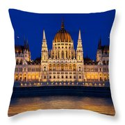 Hungarian Parliament In Budapest Throw Pillow