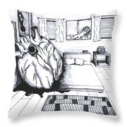 I Forgot My Heart In Your Room Throw Pillow