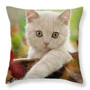 I Love Kittens Throw Pillow