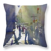 I Saw The Light At 44th And Broadway Throw Pillow