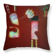 Icarus And Daedalus Throw Pillow