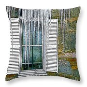 Ice By The Window Throw Pillow