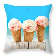 Ice Creams Throw Pillow